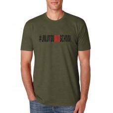 Camiseta Hunter #jiujitsuoldschool Verde Militar
